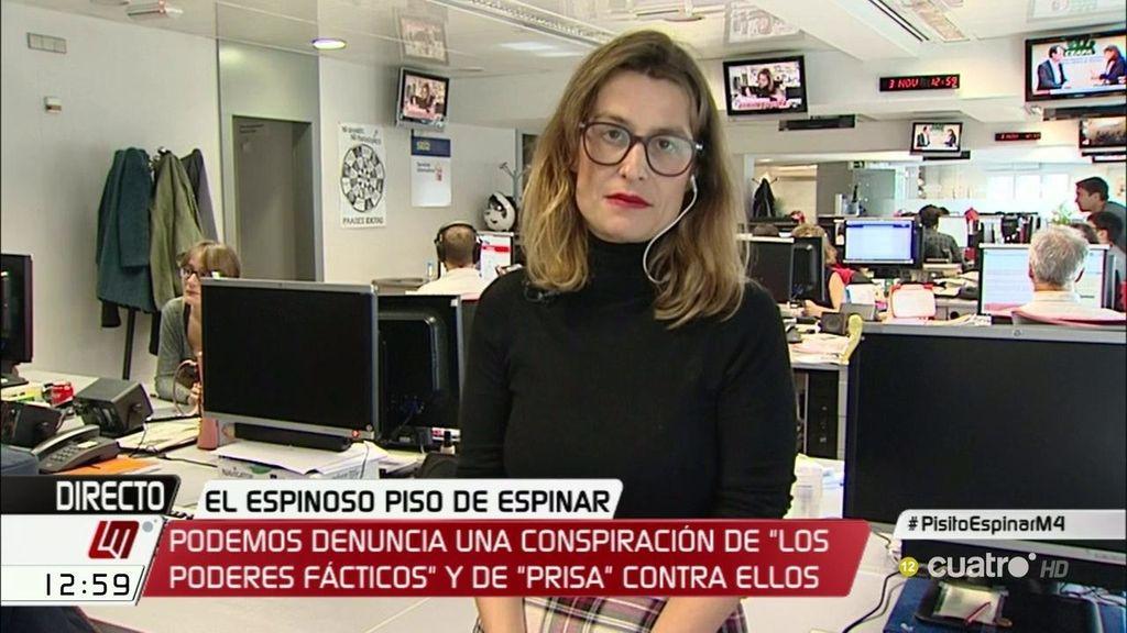 """Mariela, periodista del 'Caso Espinar': """"Podría haber renunciado al piso antes de registrarlo"""""""