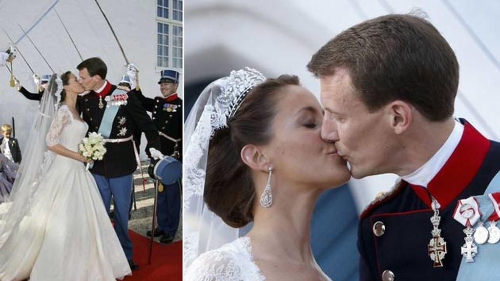 El príncipe Joaquín de Dinamarca y Marie Cavaliere