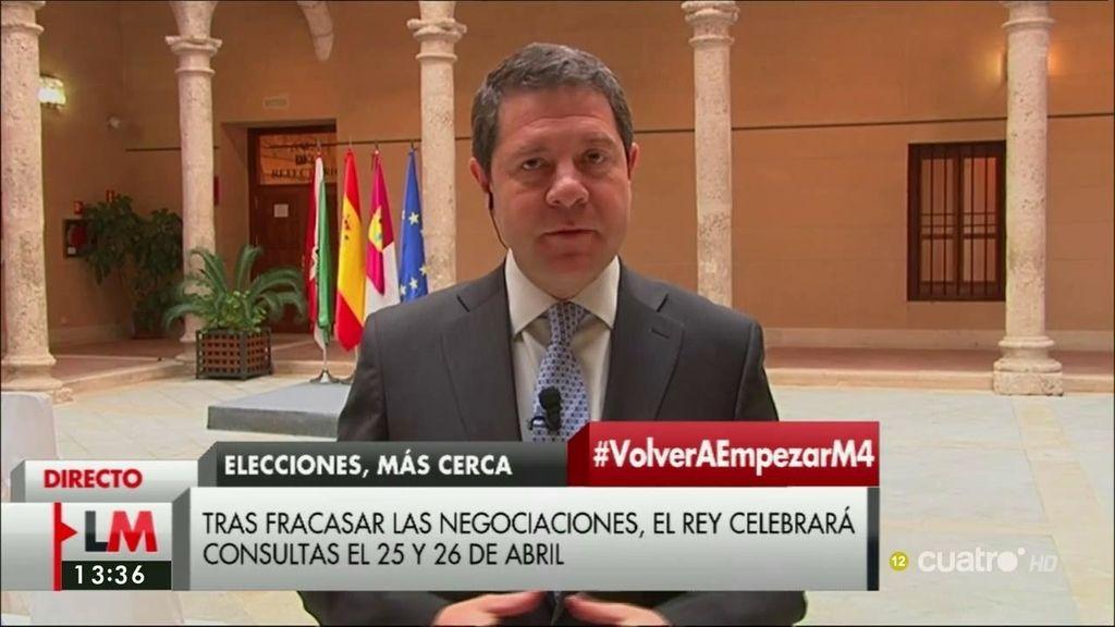 """García-Page: """"No arrojaría la toalla"""""""