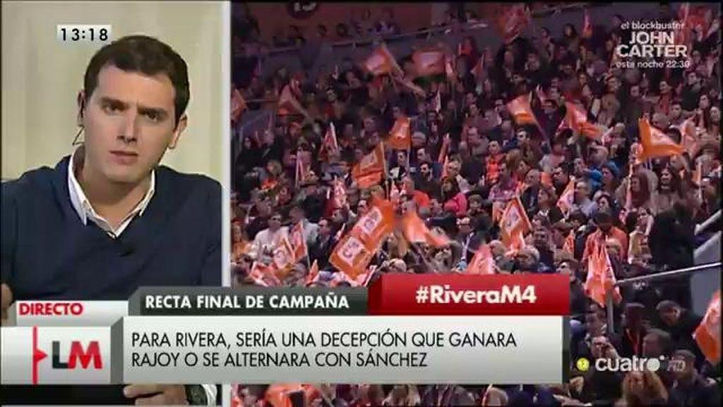 """Albert Rivera: """"Si no ganamos las elecciones, no apoyaremos a Sánchez o Rajoy"""""""