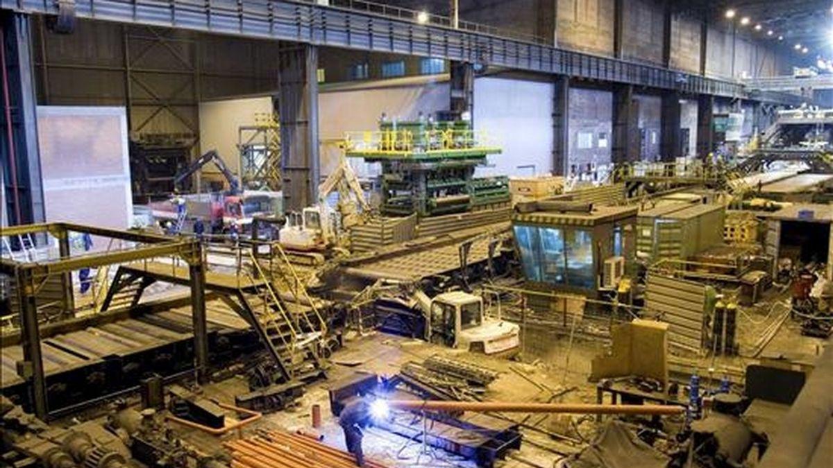 Una empresa de la compañía ArcelorMittal. EFE/Archivo