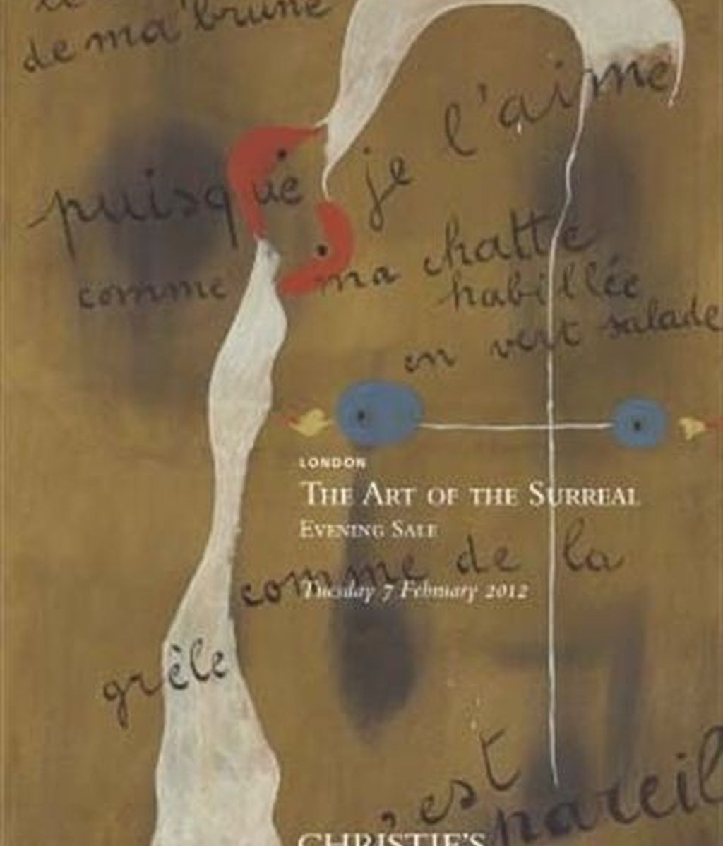Le corps de ma brune puisque je l'aime comme ma chatte habillé en vert salade comme de la grêle c'est pareil (1893-1983), del artista catalán Joan Miró