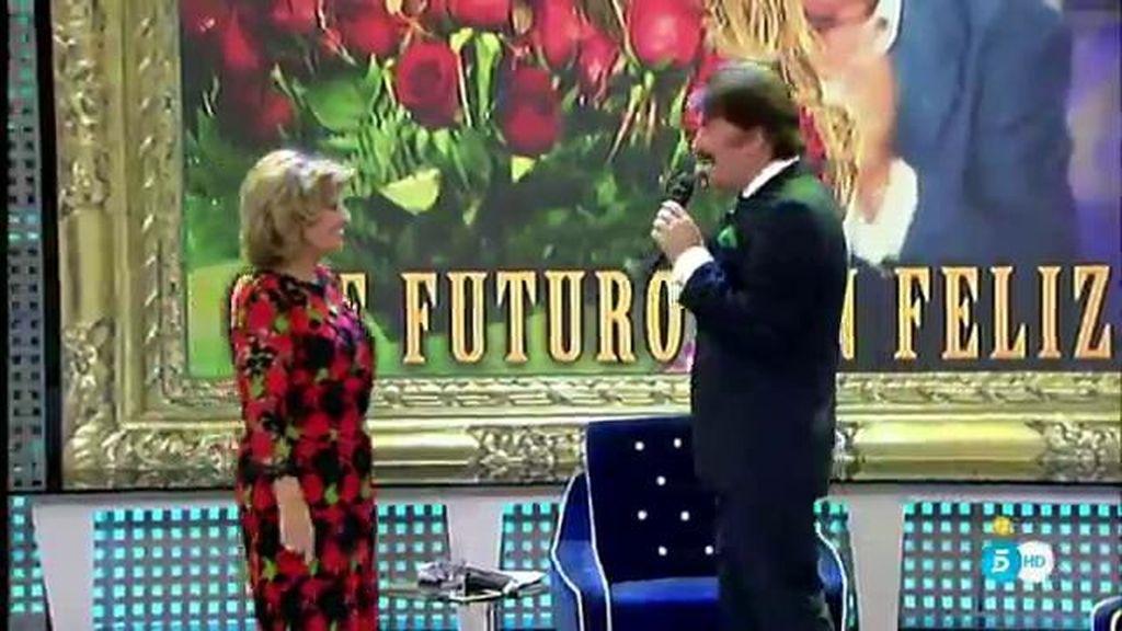 Mª Teresa Campos y Edmundo Arrocet interpretan una ranchera en el 'Deluxe'