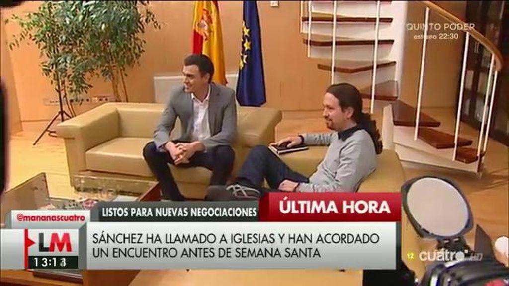 Sánchez telefonea a Iglesias y acuerdan reunirse antes de Jueves Santo