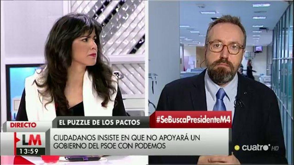 "Juan Carlos Girauta, a Teresa Rodríguez: ""No tratéis Cataluña como si fuera un lugar con una sola ideología"""