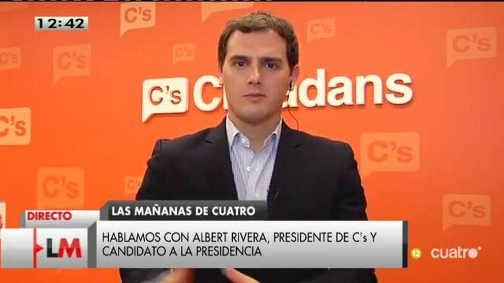 """A. Rivera: """"Creo que Artur Mas se vuelve tan separatista como corrupción tiene su partido"""""""