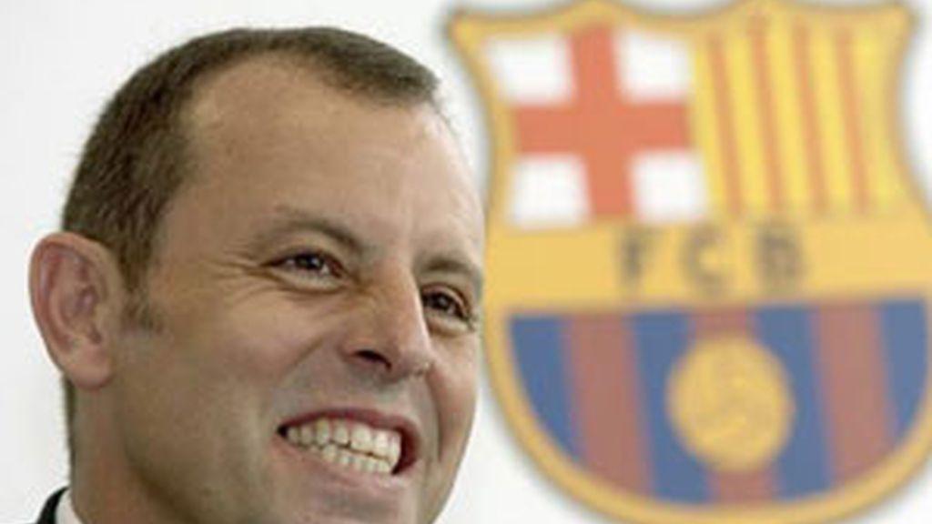El presidente del FC Barcelona, Sandro Rosell. Foto: EFE