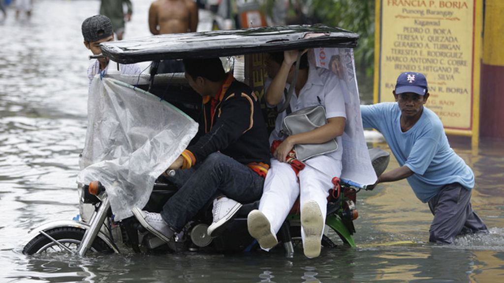 Un tifón azota Filipinas