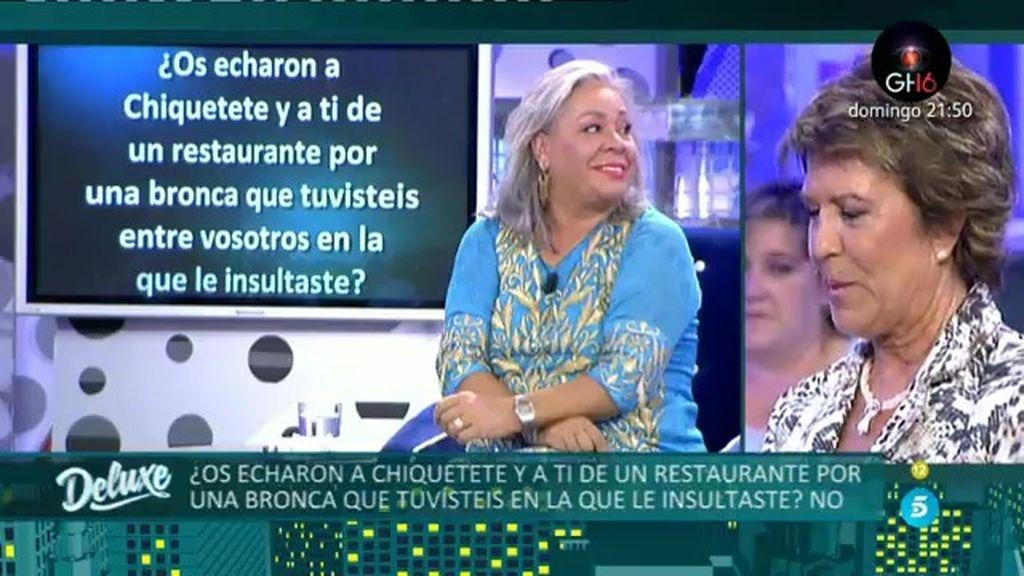 Carmen Gahona miente...¡le echaron de un restaurante por insultar a Chiquetete!