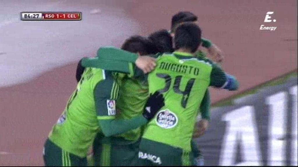 Nolito tiró de genialidad para empatar a la Real Sociedad a 5 minutos del final (1-1)