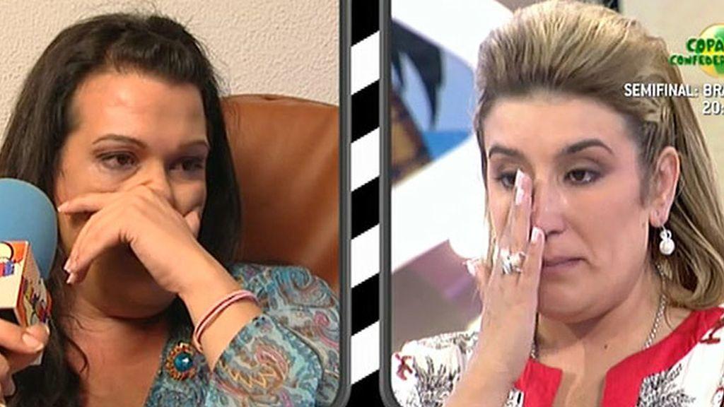 Desirée y su hermana no pueden evitar las lágrimas durantes su enfrentamiento