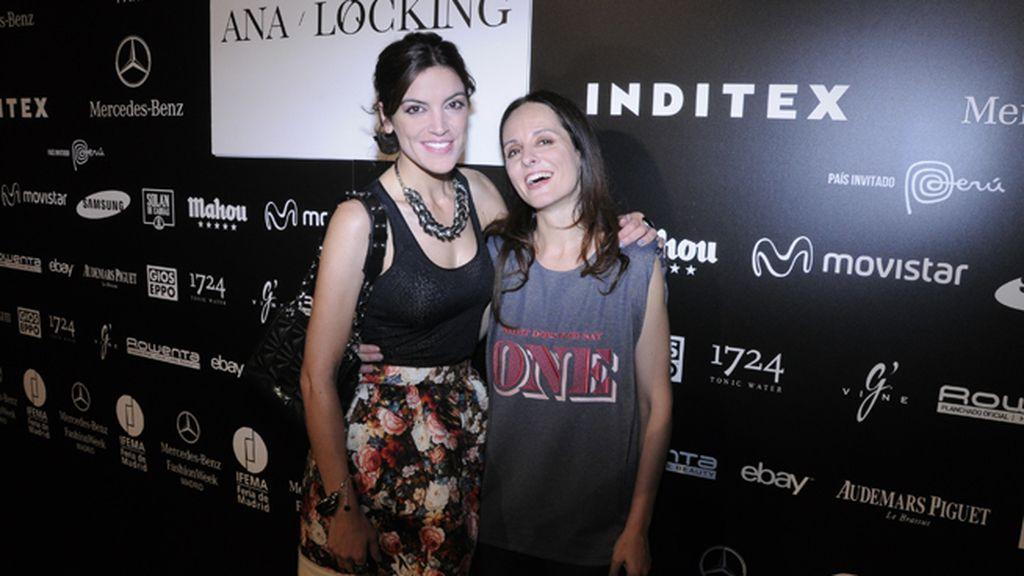 Jimena Mazucco quiso felicitar a Ana Locking tras la presentación de su nueva colección
