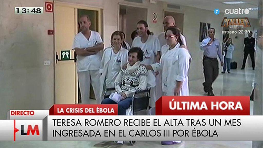 Teresa Romero recibe el alta tras un mes ingresada en el Carlos III