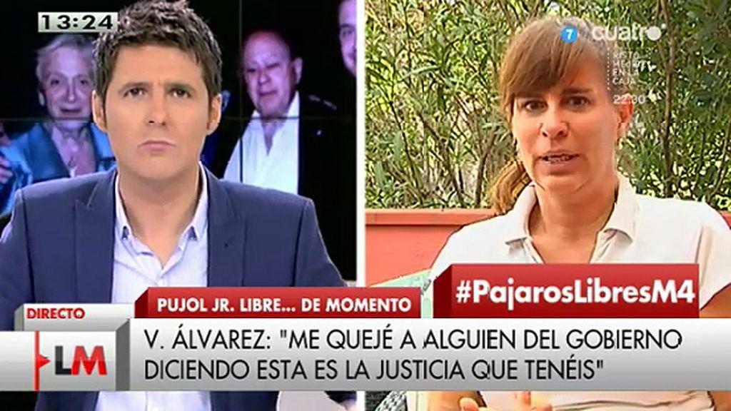 """V. Álvarez escribió a Moragas: """"¿Esta es la justicia que defiende vuestro gobierno?"""""""