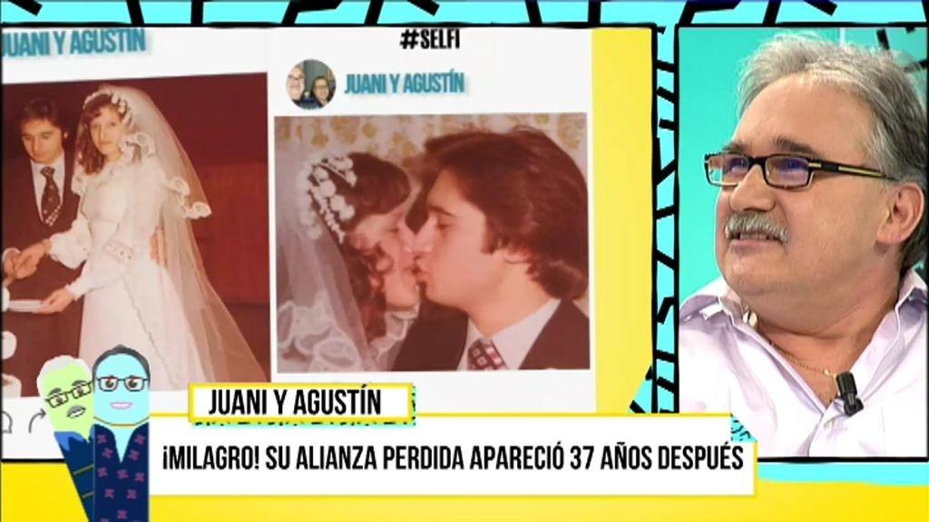 Juani y Agustín recuperaron su alianza perdida en el mar 37 años después