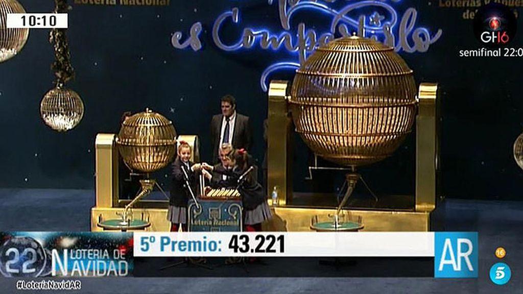 43.221: 5º premio de la Lotería de Navidad