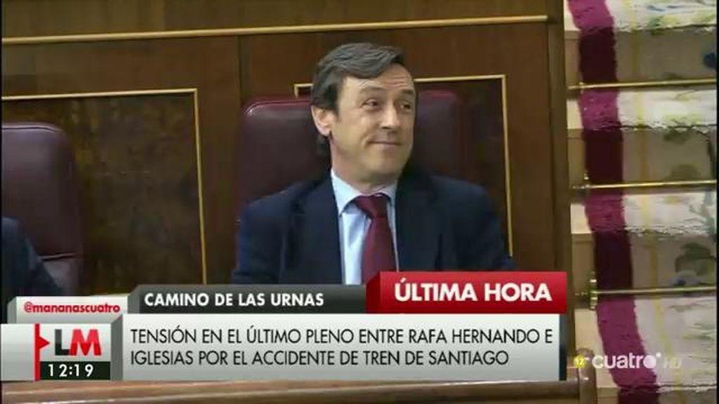 La legislatura en el Congreso termina a gritos entre Pablo Iglesias y Rafael Hernando