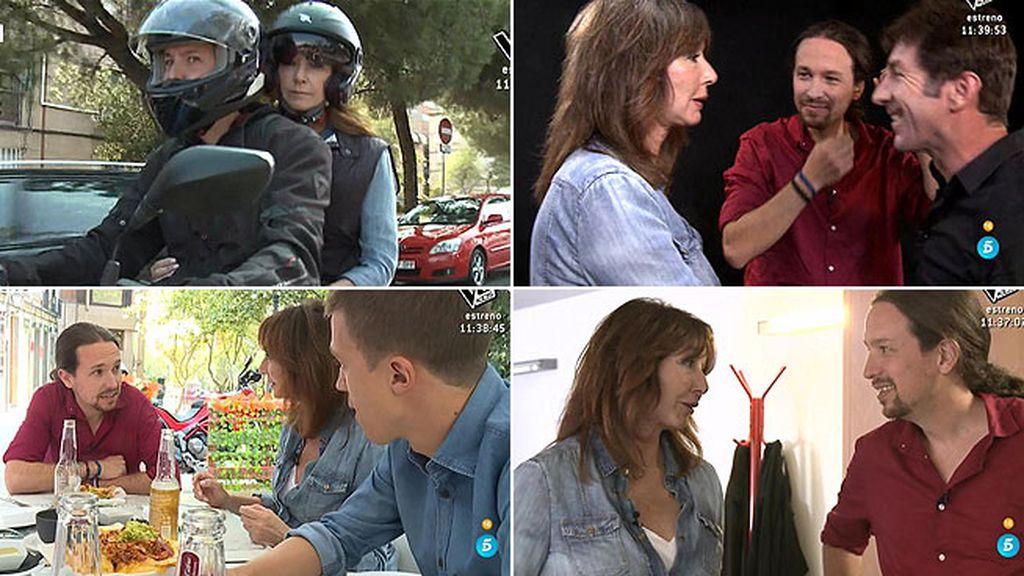 Paseo en moto, comida con el nucleo duro y visita a la sede: el día a día de Pablo Iglesias