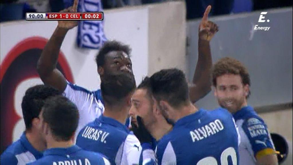 Caicedo prolonga su racha goleadora y da la victoria al Espanyol en el minuto 90