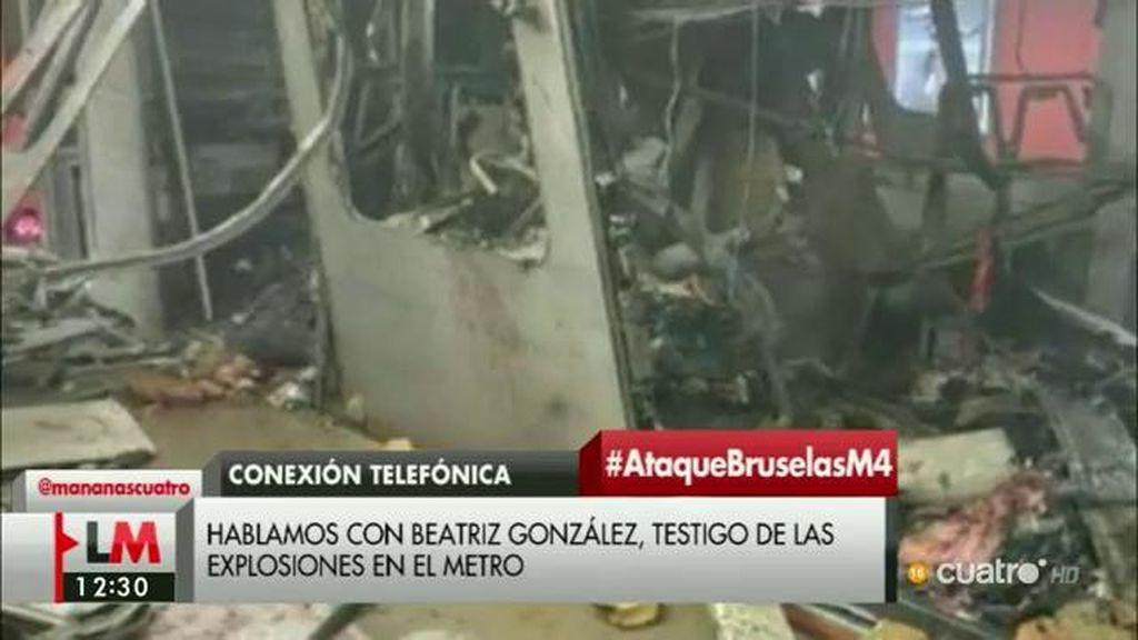 """Testigo: """"Hemos tenido mucha suerte, estábamos saliendo de la estación cuando hemos escuchado la explosión"""""""