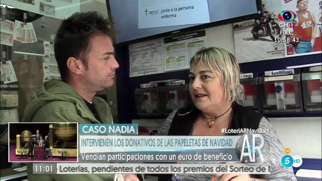 Los mossos intervienen los donativos de las participaciones de Nadia
