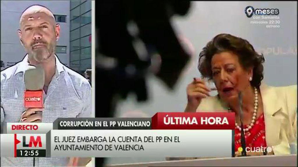 El juez embarga la cuenta del PP en Valencia