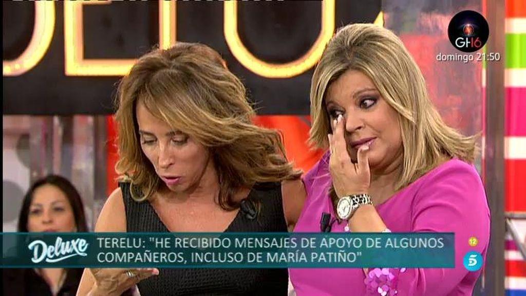 Terelu Campos se emociona al sellar la paz con María Patiño en Sálvame Deluxe