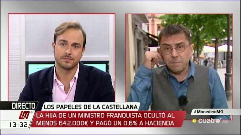 """Javier Dorado, a Monedero: """"Para nosotros y para la democracia sois una amenaza"""""""
