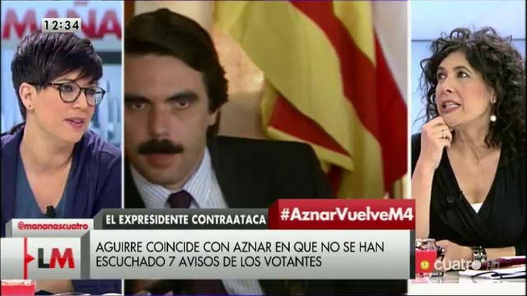 """""""Creo que es un tremendo error hacer resurgir a fantasmas como Aznar y Aguirre"""""""