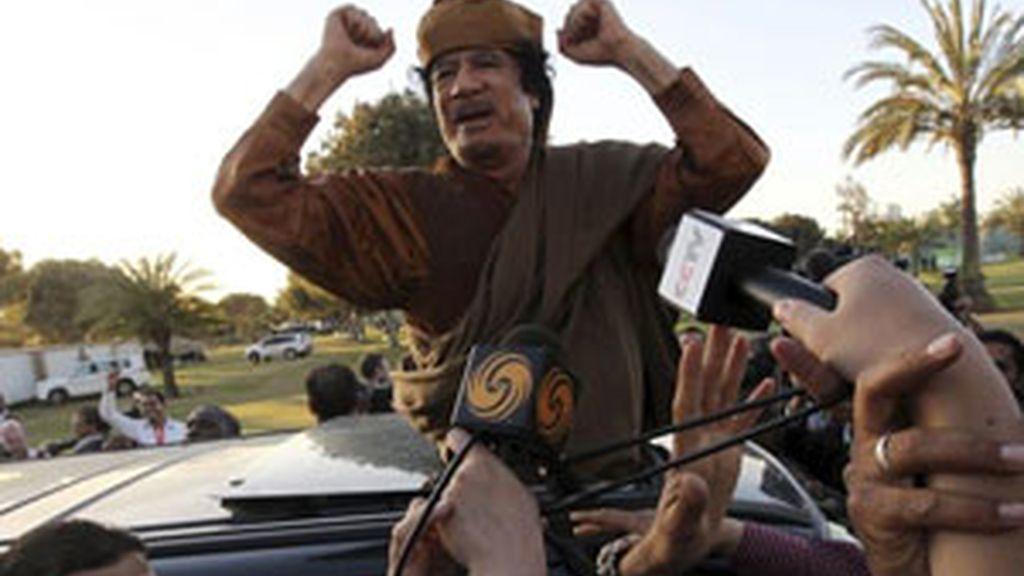 Los rebeldes exigen la salida de Gadafi. Vídeo: Informativos Telecinco