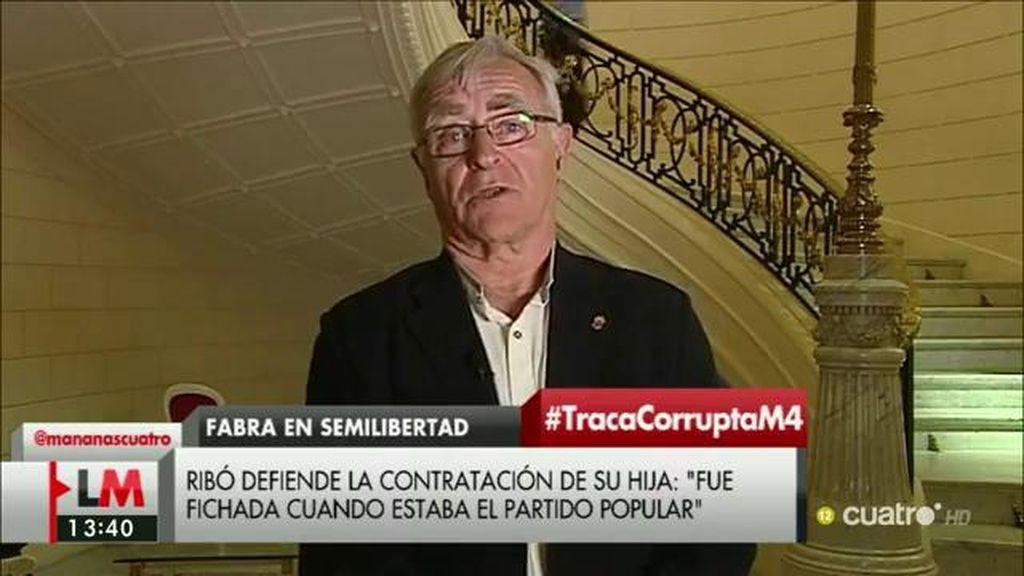 """Joan Ribó, acalde de Valencia: """"En el PP, los grandes jefes nunca saben nada"""""""