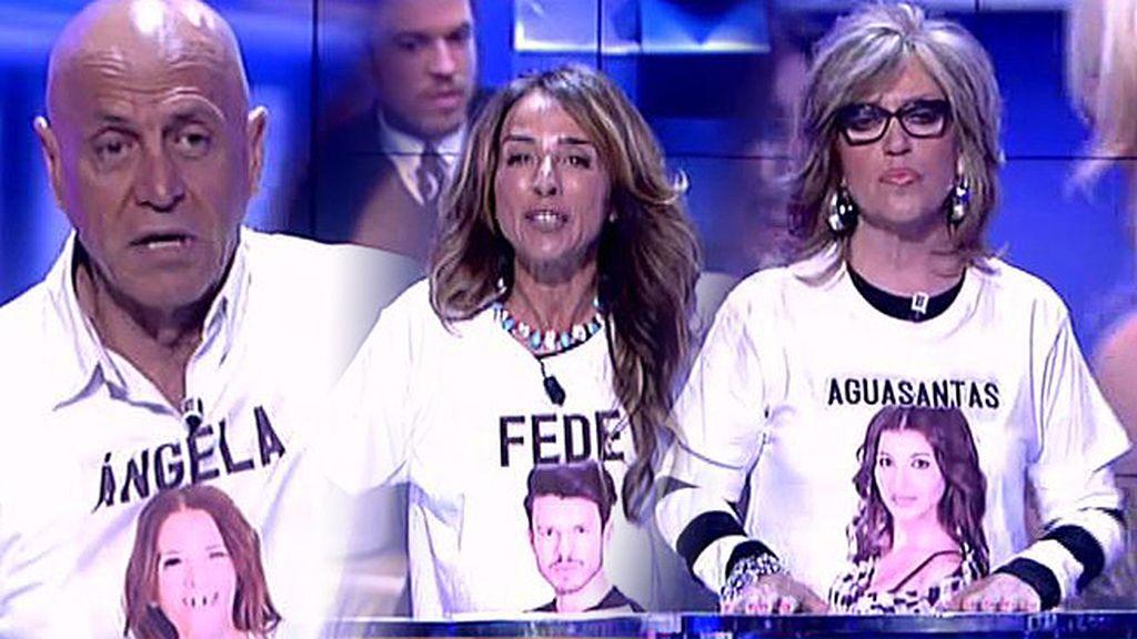 Fede, Aguasantas y Ángela dividen a los colaboradores de 'Sálvame'