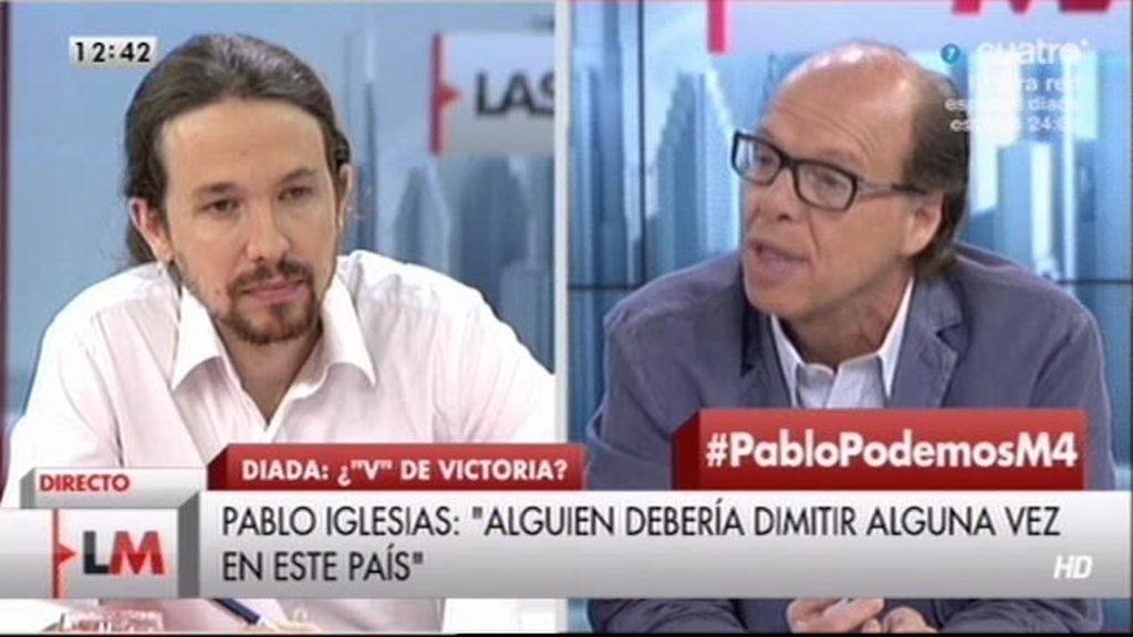 """Pablo Iglesias, a Jaime González: """"Hasta el subdirector de ABC reconoce que nos han gobernado unos corruptos"""""""