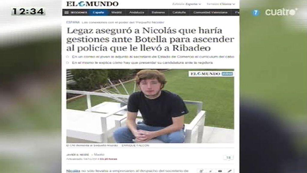 Legaz aseguró a Nicolás que haría gestiones ante Botella para ascender al policía que le llevó a Ribadeo, según 'El Mundo'
