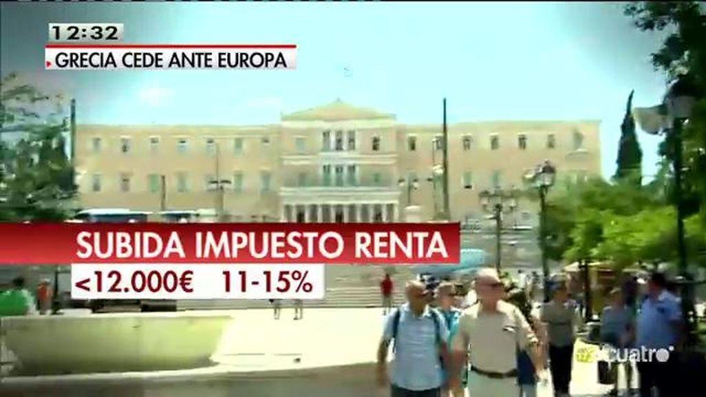 La propuesta griega: Aumento del IVA, retraso de la jubilación y cambios en el IRPF