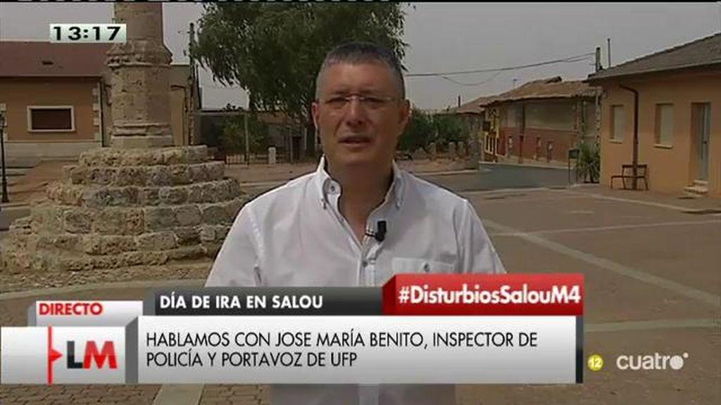 """J.M. Benito: """"Cuando se entra por la fuerza, entra la policía y luego el secretario judicial"""""""