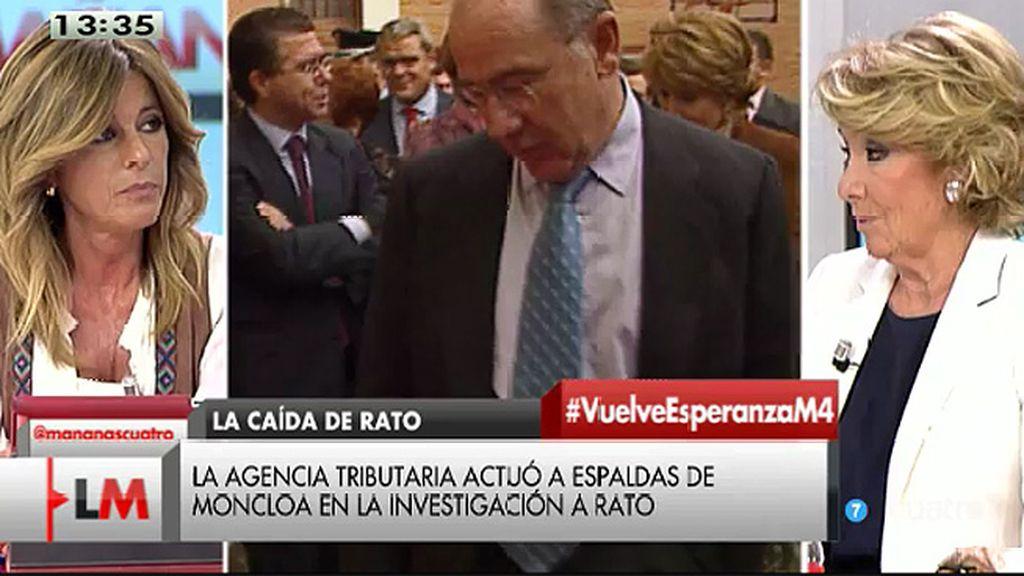 """Aguirre, de Rato: """"No considero normal que a un señor acusado de fraude fiscal se le trate como si fuera un asesino"""""""