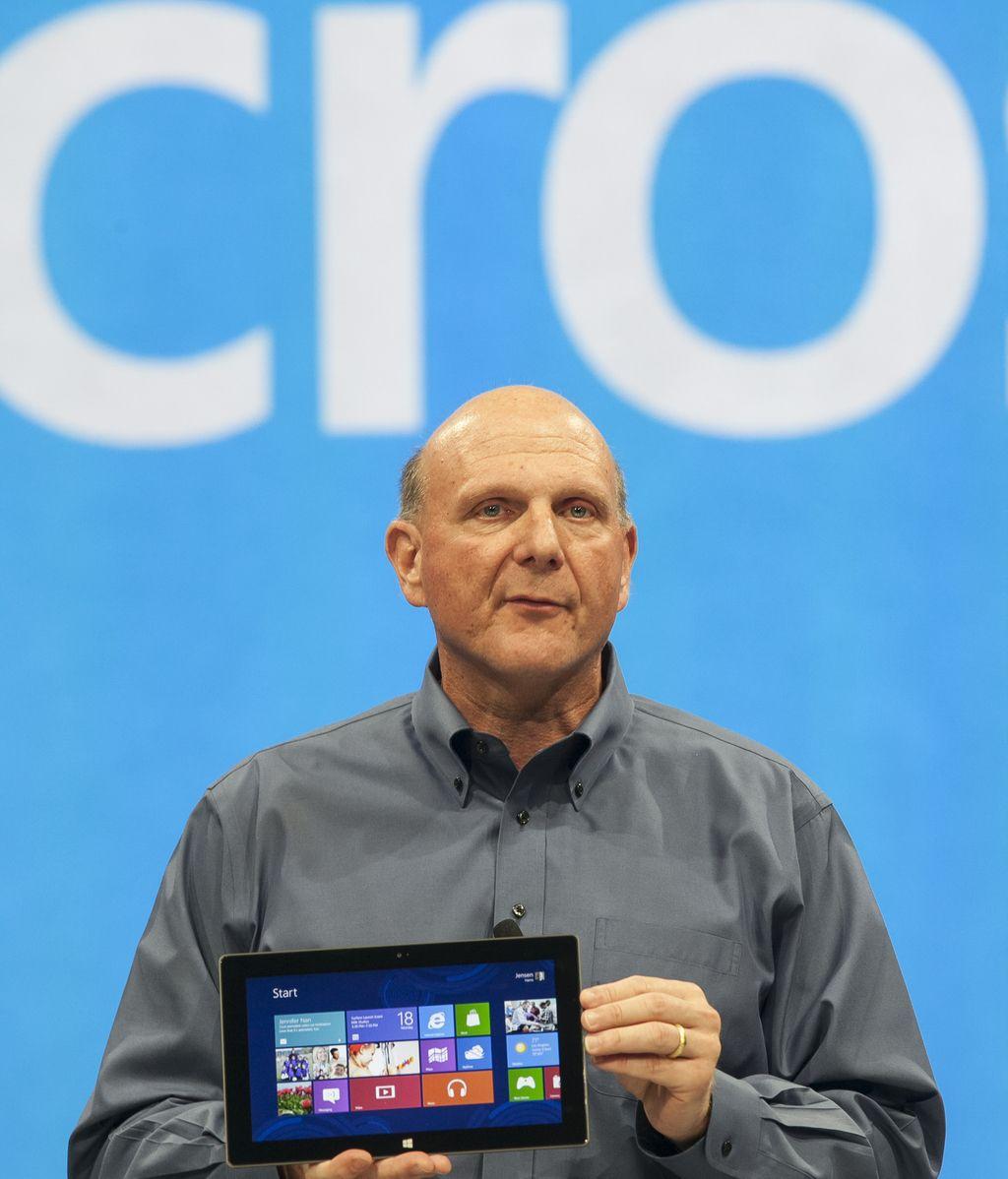 Steve Ballmer durante la presentación de 'Surface', la tablet de Microsoft