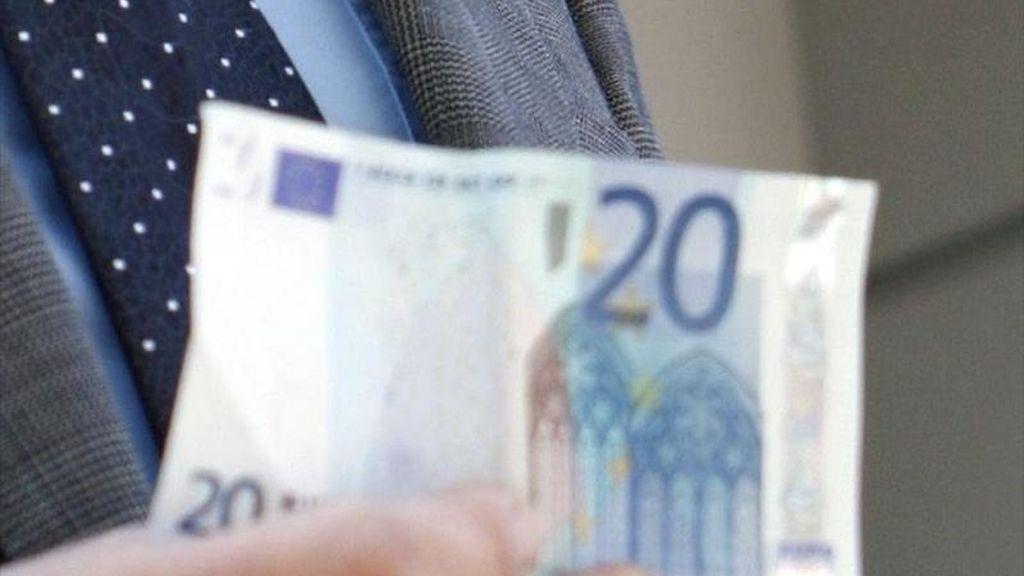 En la imagen, un billete de 20 euros. EFE/Archivo