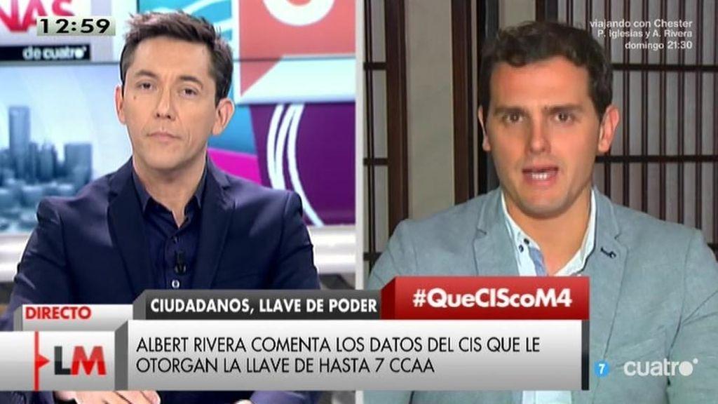 """Albert Rivera: """"El PP tiene que hacer mucha limpieza en Madrid y Valencia"""""""