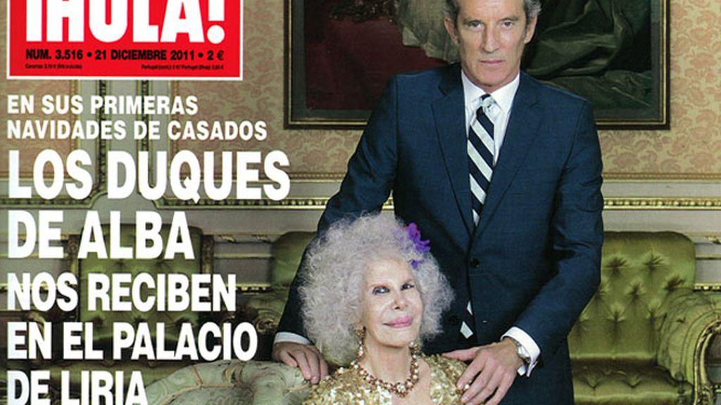Los Duques de Alba celebran sus primeras navidades de casados