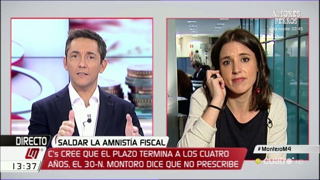 """I. Montero: """"Montoro no es un justiciero sino un ministro poco digno de representar a los españoles"""""""