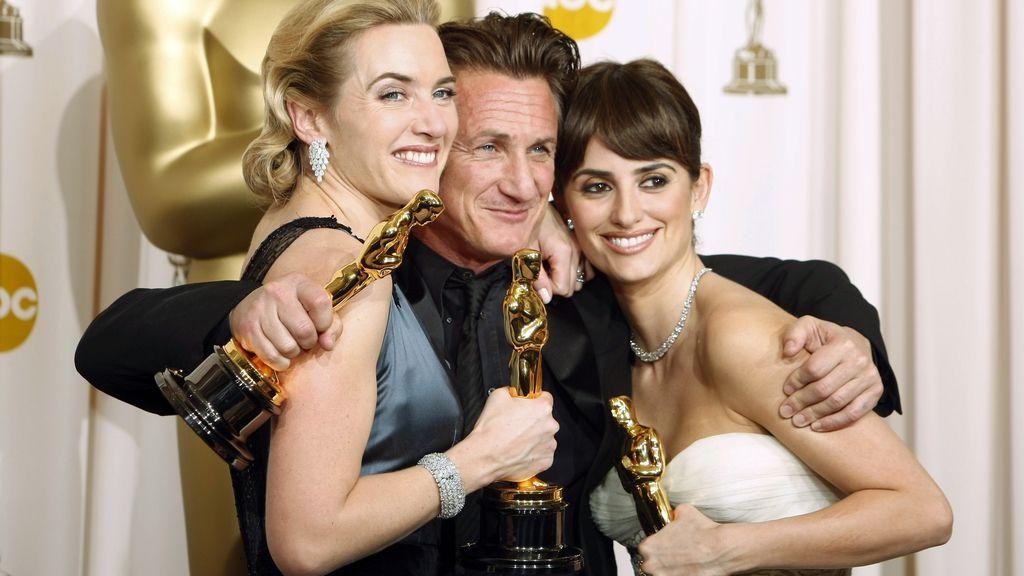 Kate Winslet, Sean Penn, y Penélope Cruz en 2008