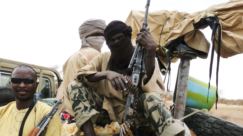 militares del grupo islamista Ansar Dine en Malí. Foto: Reuters