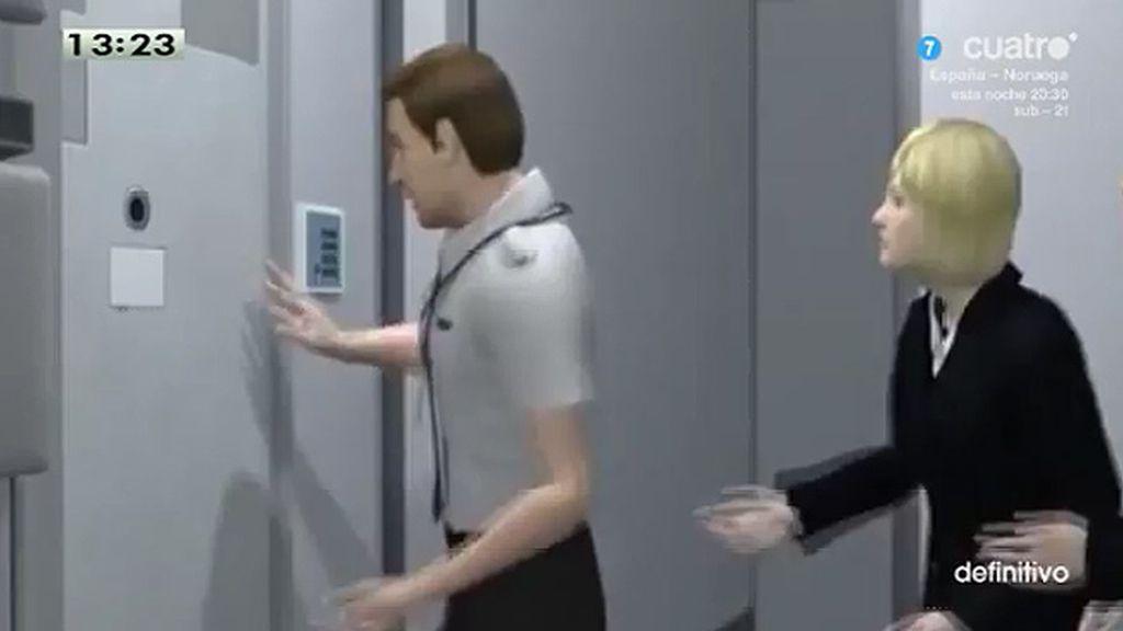 La recreación de lo que pudo haber sucedido en el avión de Germanwings