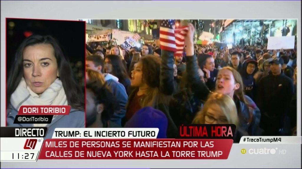Protestas anti Trump en las calles de las principales ciudades de Estados Unidos