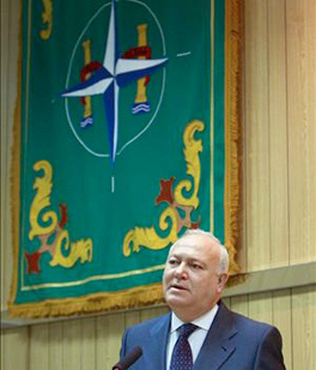 El ex ministro Moratinos, en Retamares. Foto: MDE.