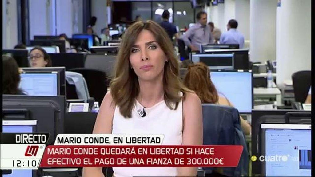 Mario Conde quedará en libertad bajo fianza si hace efectivo el pago de 300.000€