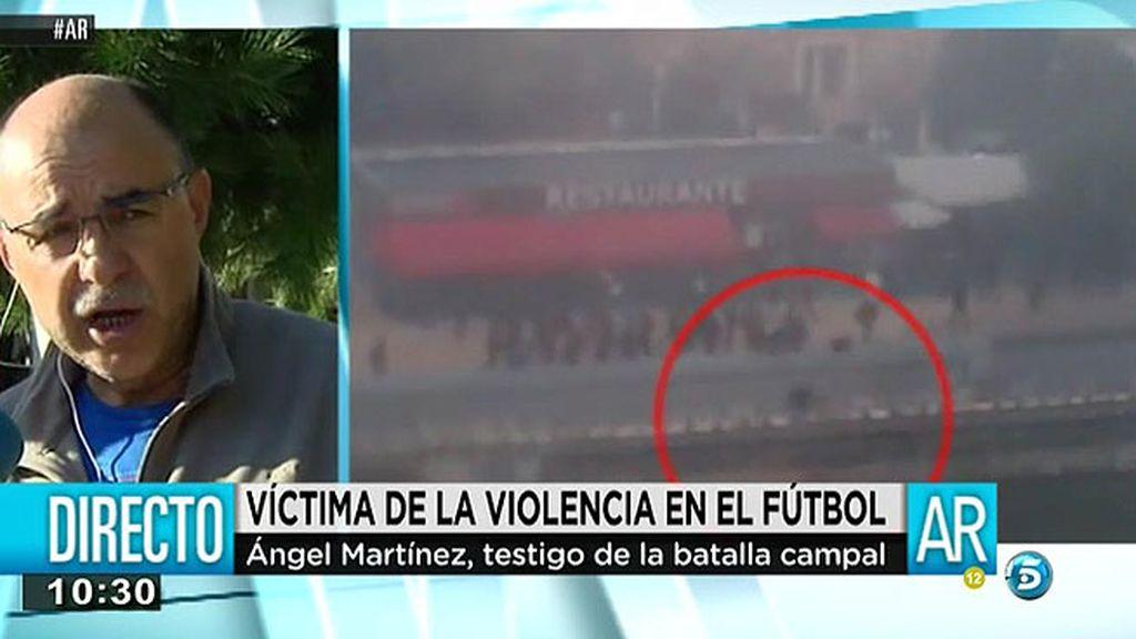 """Ángel, testigo de la reyerta en el 'Madrid Río': """"Yo vi pasotismo en la policía municipal"""""""