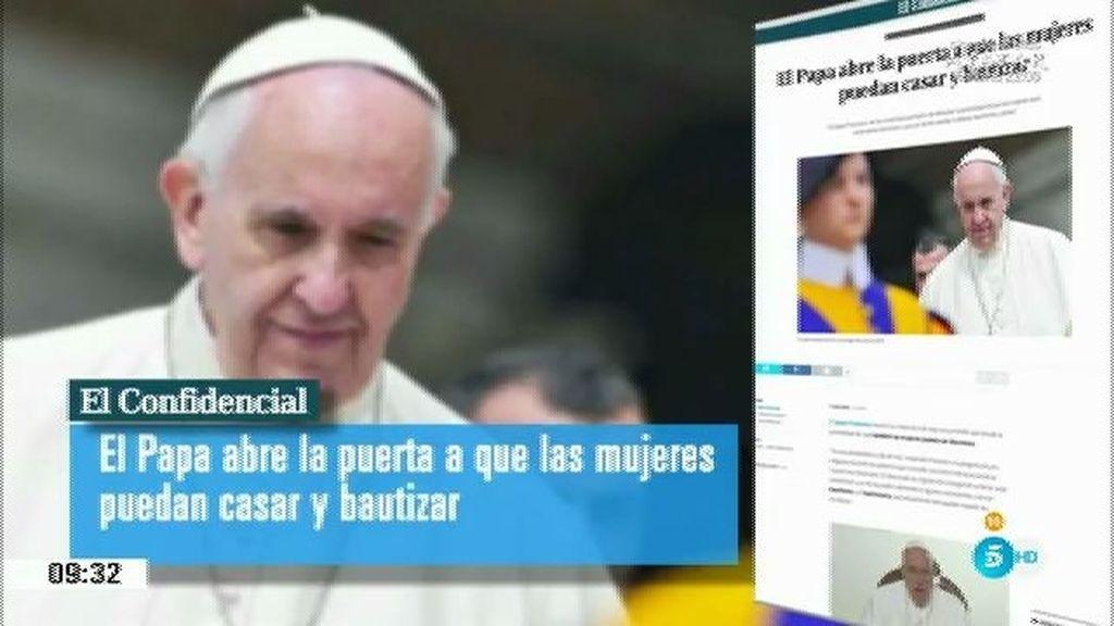 El Papa abre la puerta a que las mujeres sean diaconisas y puedan casar y bautizar